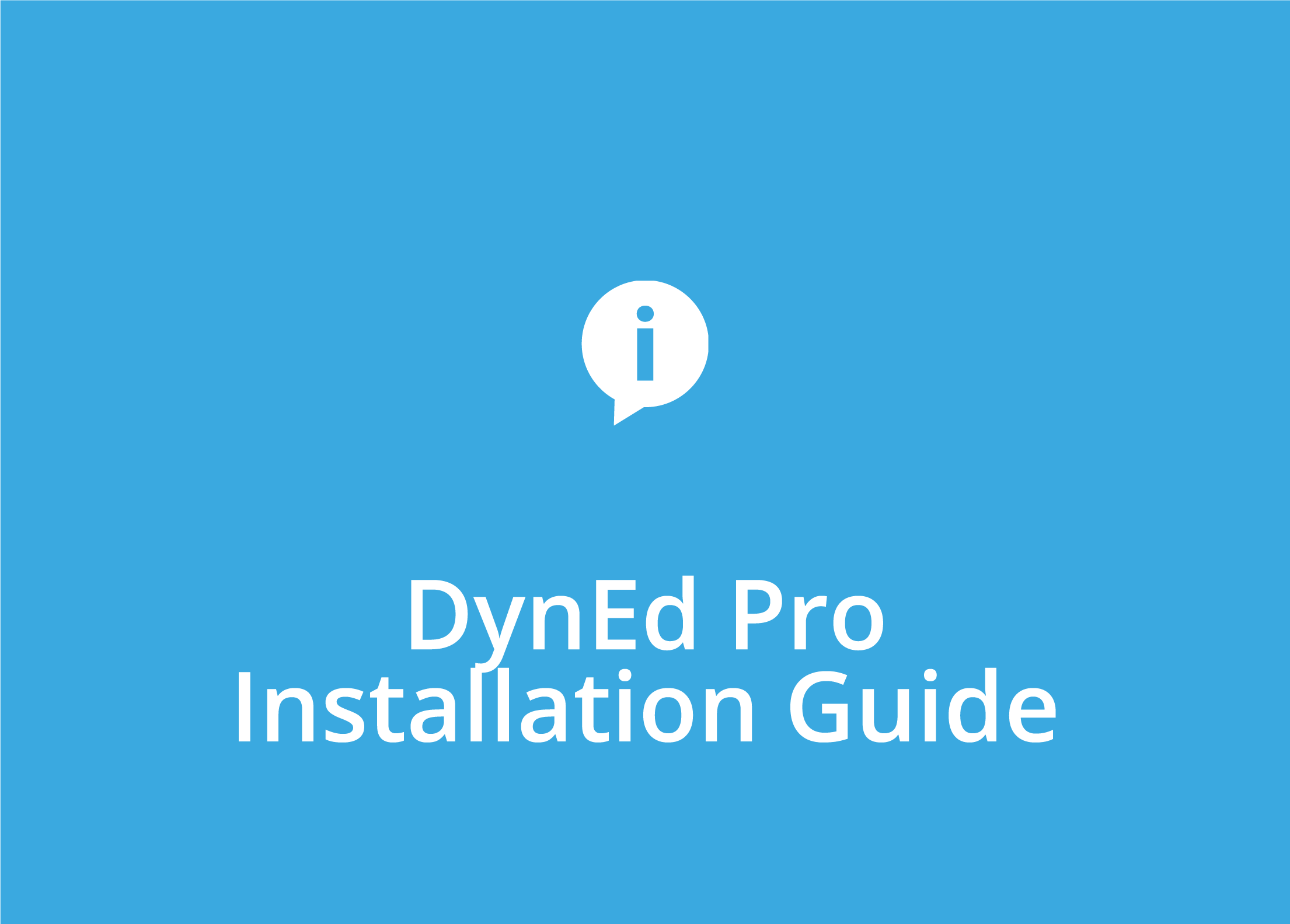 DynEd Pro Installation Guide